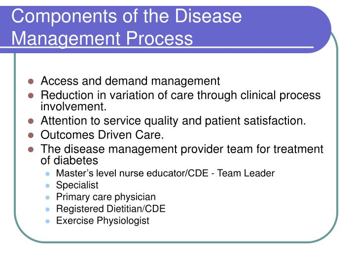 Components of the Disease Management Process
