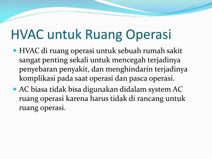 HVAC untuk Ruang Operasi