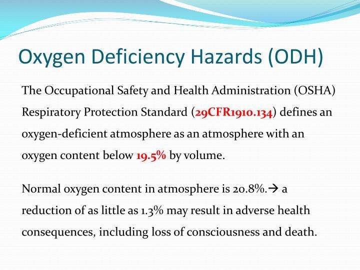 Oxygen Deficiency Hazards (ODH)
