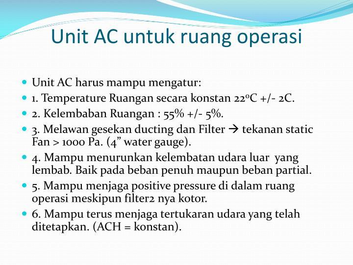 Unit AC untuk ruang operasi