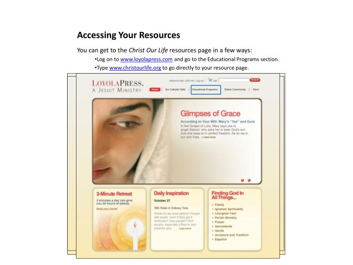Accessing Your Resources