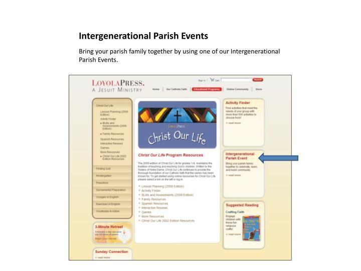 Intergenerational Parish Events