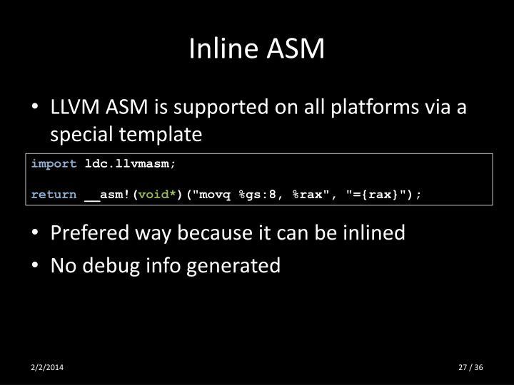 Inline ASM
