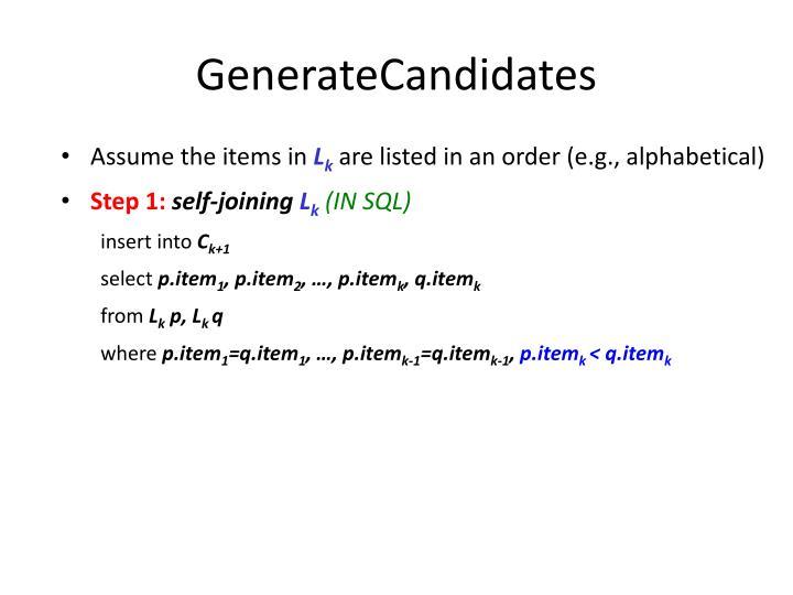 GenerateCandidates