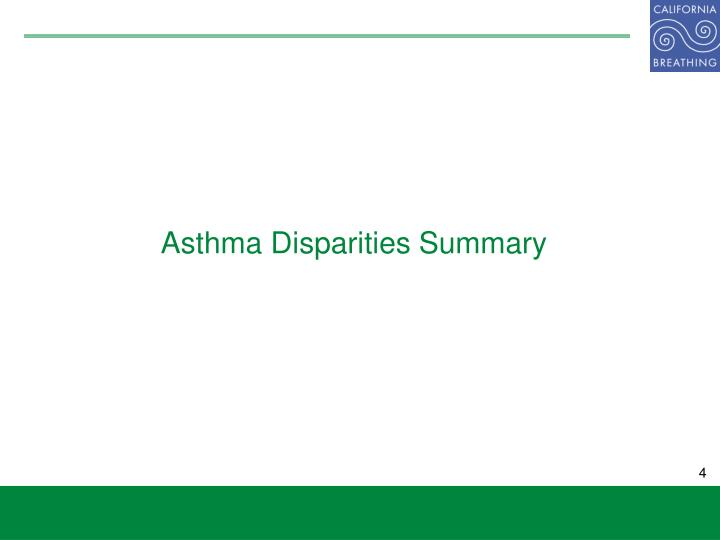 Asthma Disparities Summary