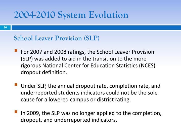 2004-2010 System Evolution