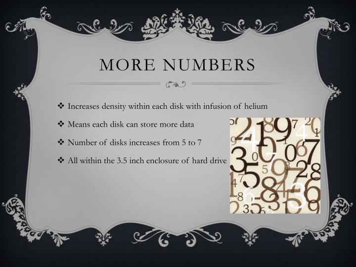More numbers