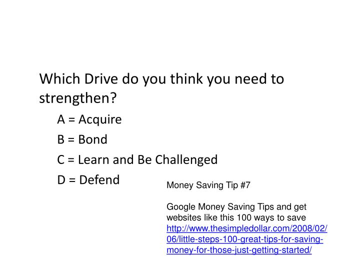 Which Drive do