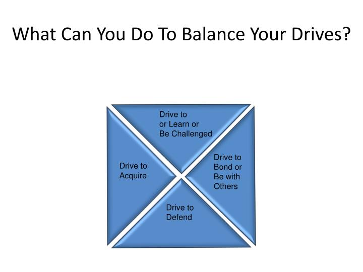 What Can You Do To Balance Your Drives?