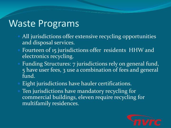 Waste Programs