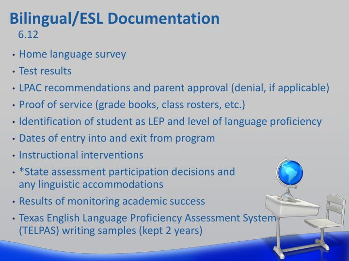 Bilingual/ESL Documentation