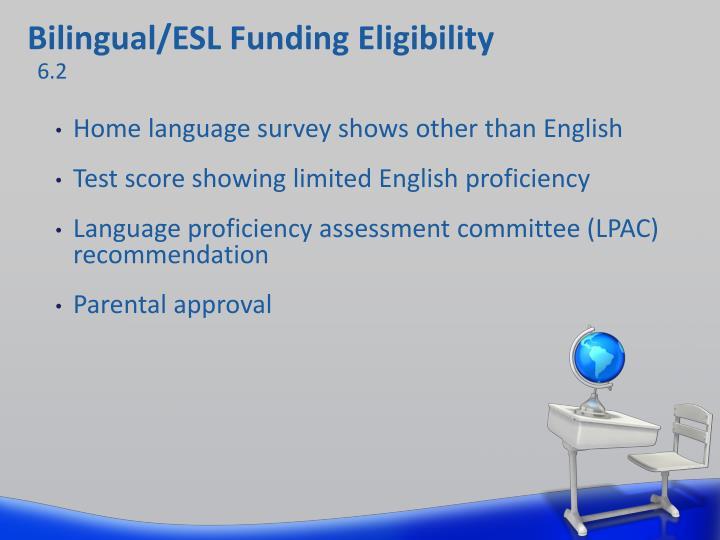 Bilingual/ESL Funding Eligibility
