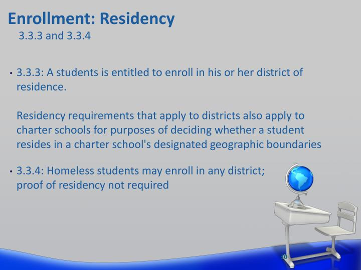 Enrollment: Residency