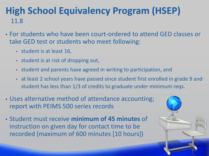 High School Equivalency Program (HSEP)