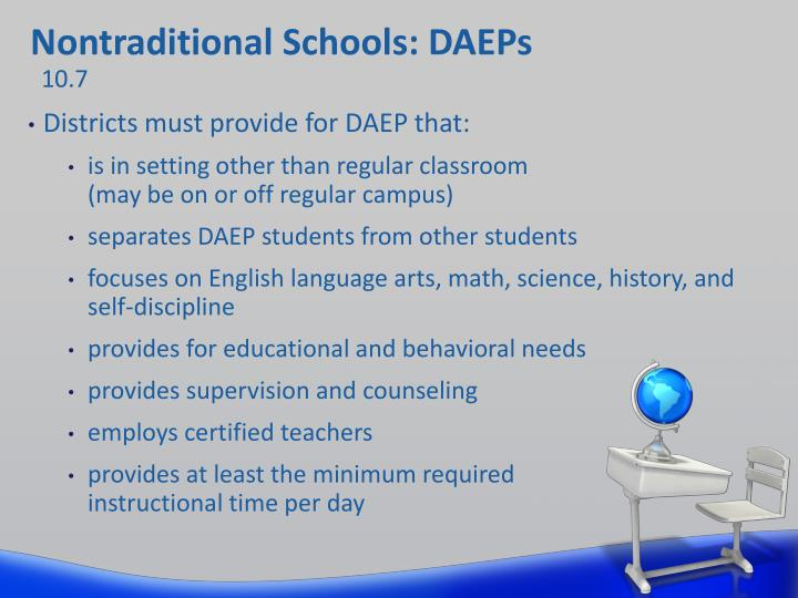 Nontraditional Schools: DAEPs