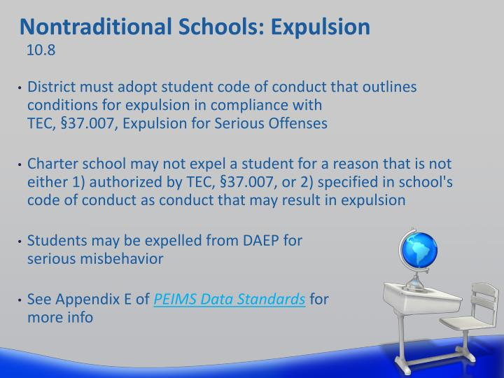 Nontraditional Schools: Expulsion