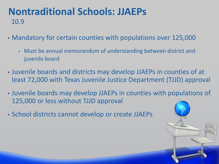 Nontraditional Schools: JJAEPs