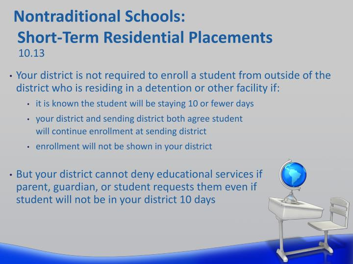 Nontraditional Schools: