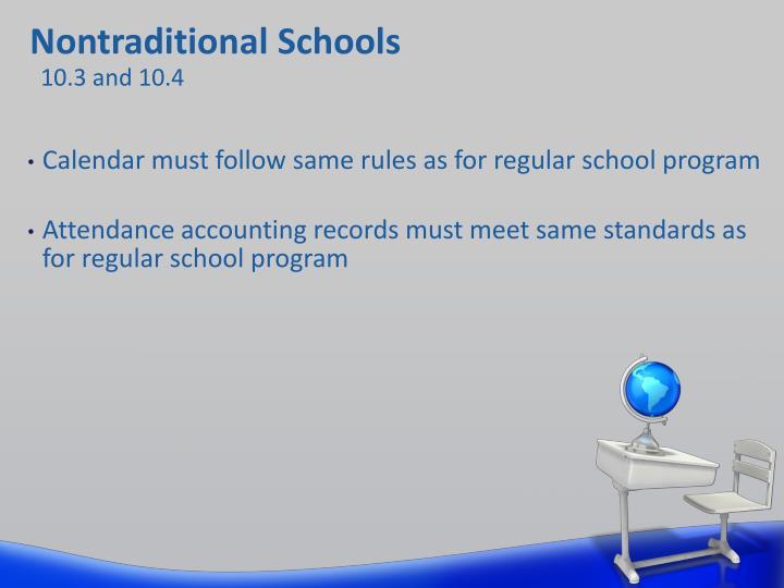 Nontraditional Schools