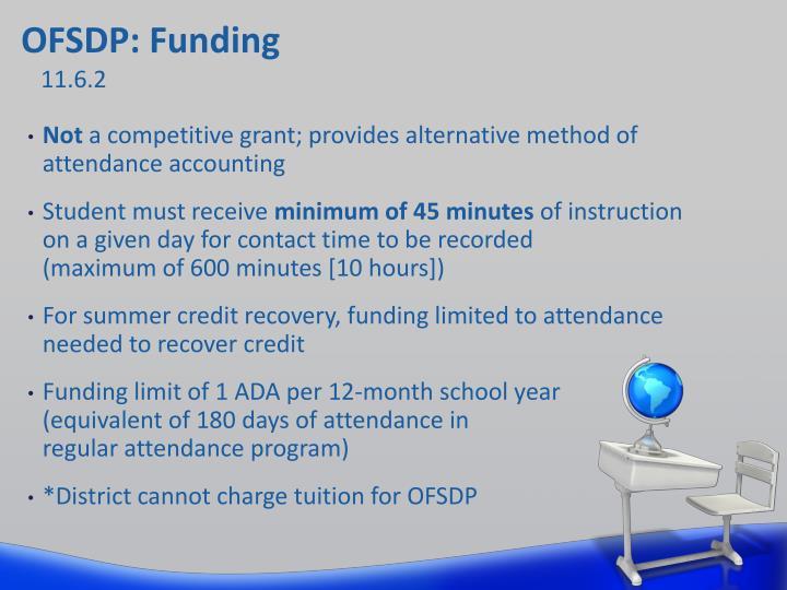 OFSDP: Funding