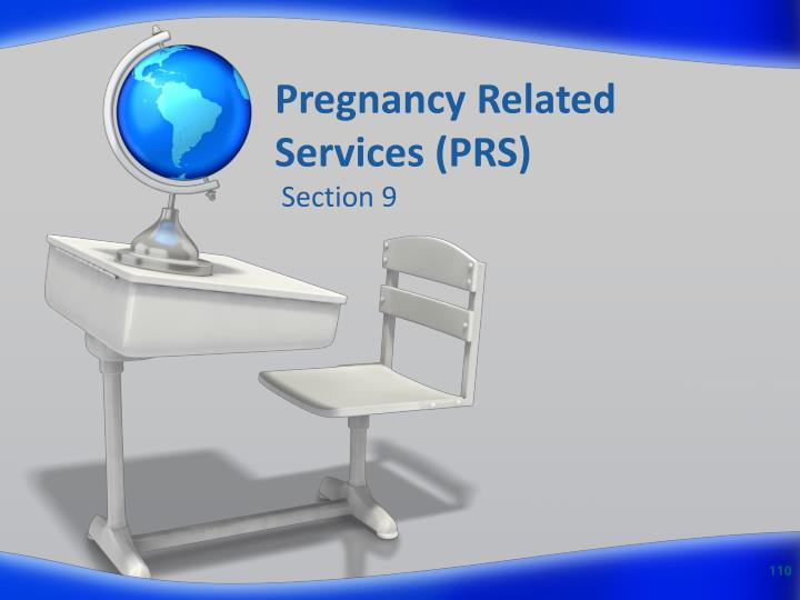Pregnancy Related Services (PRS)
