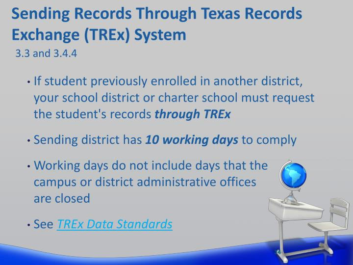 Sending Records Through Texas Records