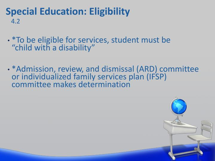 Special Education: Eligibility