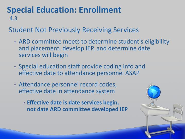 Special Education: Enrollment