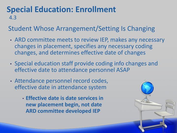 Special Education: Enrollment