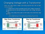 changing voltage with a transformer2