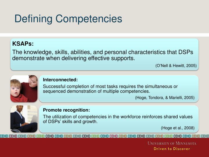 Defining Competencies