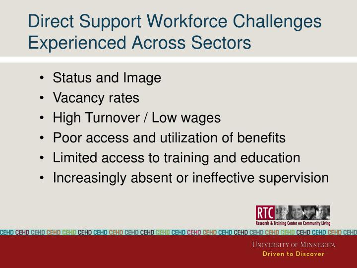 Direct Support Workforce Challenges