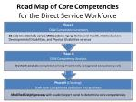 road map of core competencies for the direct service workforce