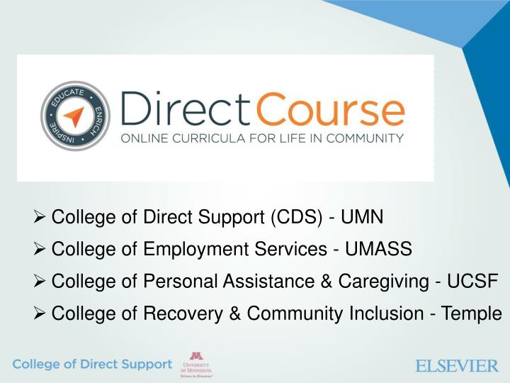 College of Direct Support (CDS) - UMN
