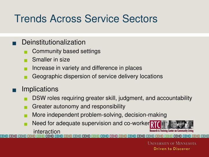 Trends Across Service Sectors