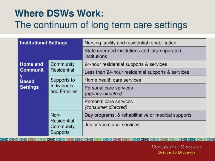 Where DSWs Work: