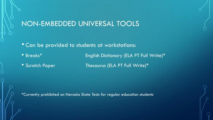 Non-embedded universal tools