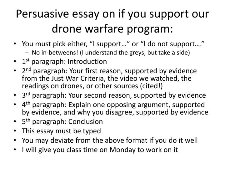 on drone warfare essay