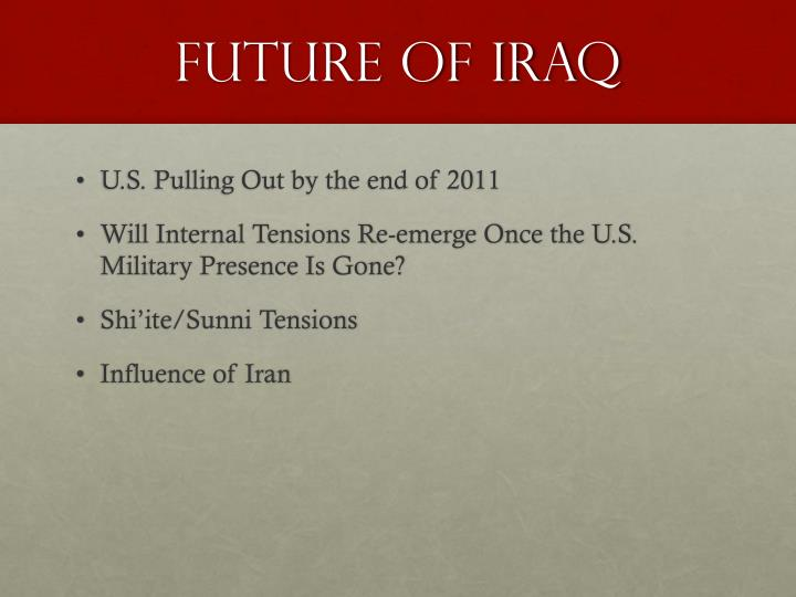 Future of Iraq