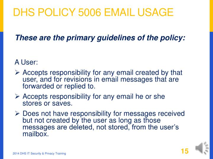DHS Policy 5006 Email Usage