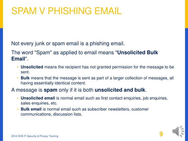 Spam v Phishing Email