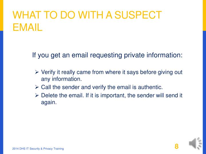 What to Do With a Suspect Email