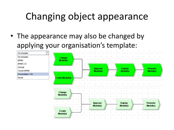 Changing object appearance