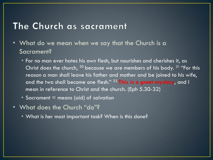 The Church as sacrament