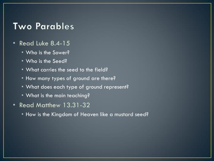 Two Parables