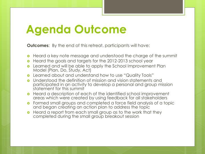 Agenda Outcome