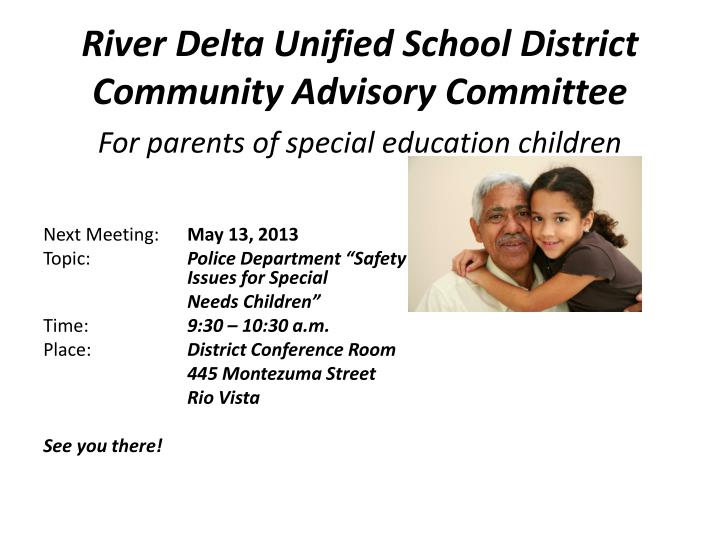 River delta unified school district community advisory committee