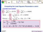 computing the least squares parameters a and b