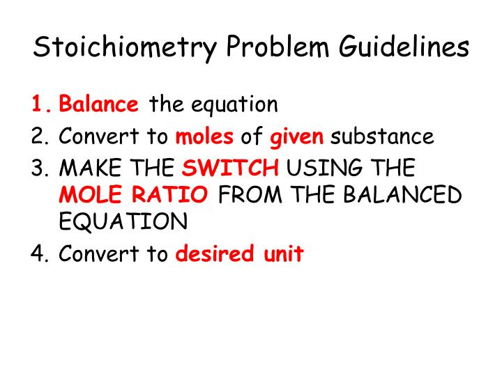 ppt - stoichiometry with a twist powerpoint presentation