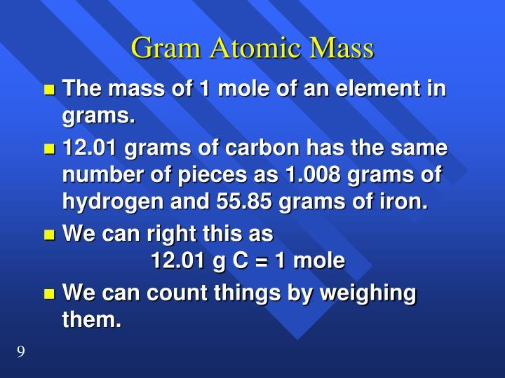 Gram Atomic Mass
